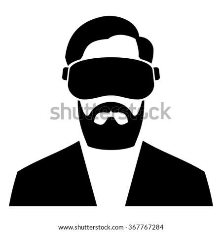 Virtual Reality Headset Icon. Vector - stock vector