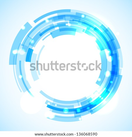 Virtual technology circle with space for your business message - stock vector