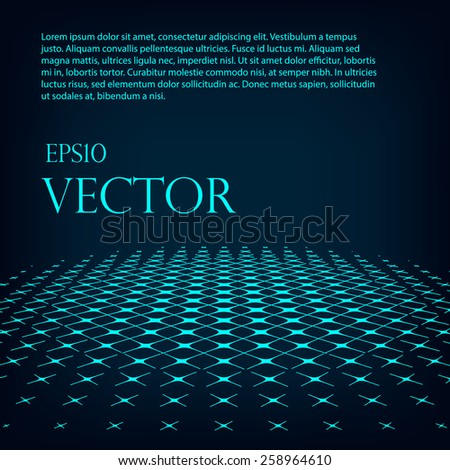 Virtual technology vector background with glowing halftone dots Eps 10. - stock vector