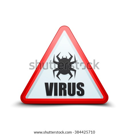 Virus attention sign - stock vector