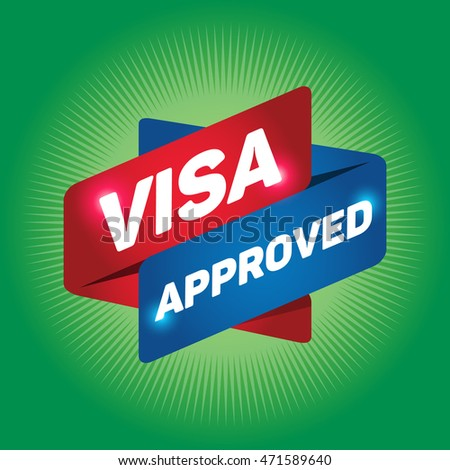 VISA APPROVED arrow tag sign.