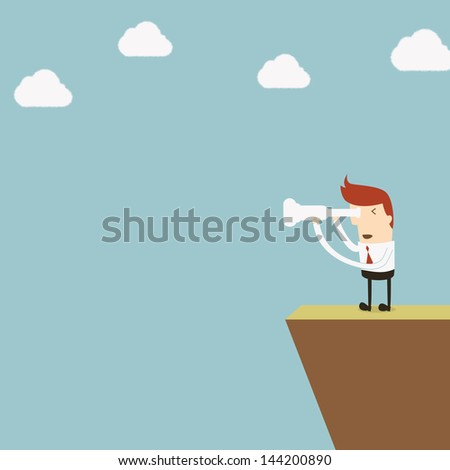 Vision Business - stock vector