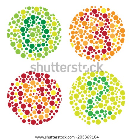 vision eye blind test vector illustration - stock vector