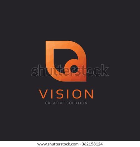 Vission logo,creative logo,Vector Logo Template - stock vector