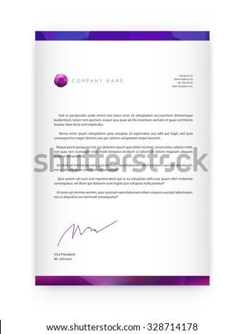 Visual identity with letter logo elements style Letterhead and geometric blur gradient mesh design style brochure cover template mockups for business with Fictitious name