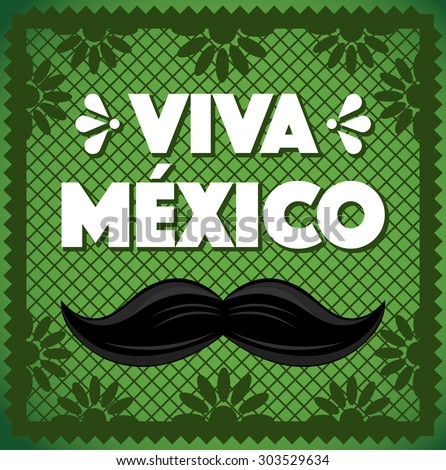 Viva Mexico - Cut Out Paper Composition - stock vector