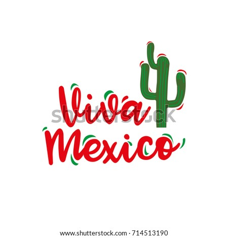 Viva mexico traditional mexican phrase holiday stock vector hd viva mexico traditional mexican phrase holiday hand written lettering for greeting card isolated m4hsunfo Image collections