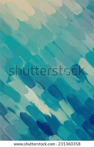 Vivid blue diagonal brush stroke paint. Abstract illustration. - stock vector