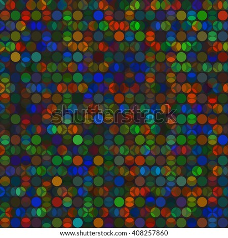 Vivid circles bright vector seamless background pattern - stock vector