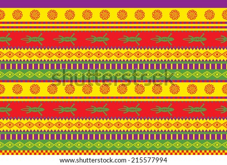 vivid seamless vector pattern with mexican ornaments