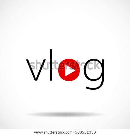 vlog icon vector illustration