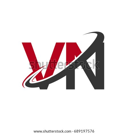Vn Initial Logo Company Name Colored Stock Vector Hd Royalty Free