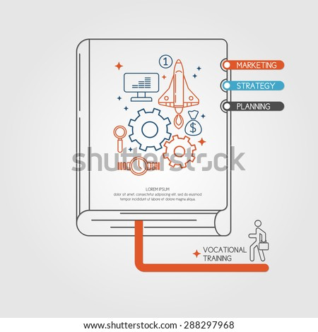 Vocational training. Income and success. Business infographics. Icons and illustrations for design, website, infographic, poster, advertising. - stock vector