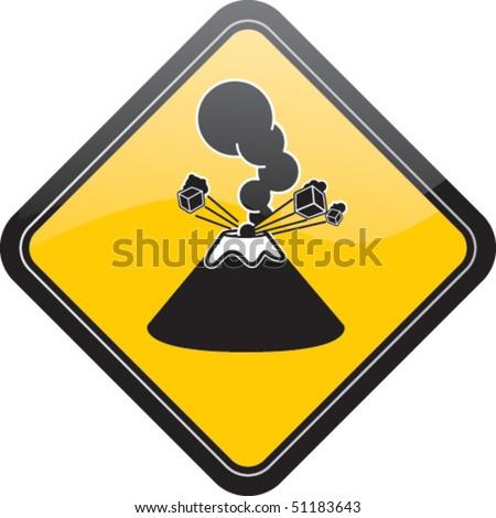 Volcano Symbol Volcano Icon Stock Ima...