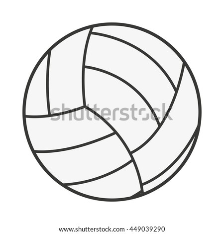 volleyball ball isolated icon design, vector illustration  graphic  - stock vector