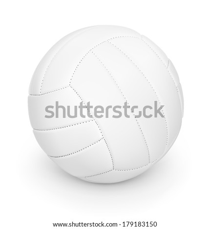 Volleyball ball isolated on white background. Detailed vector illustration. Realistic. Print quality. - stock vector