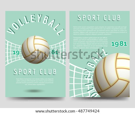 volleyball poster stock images royalty free images. Black Bedroom Furniture Sets. Home Design Ideas