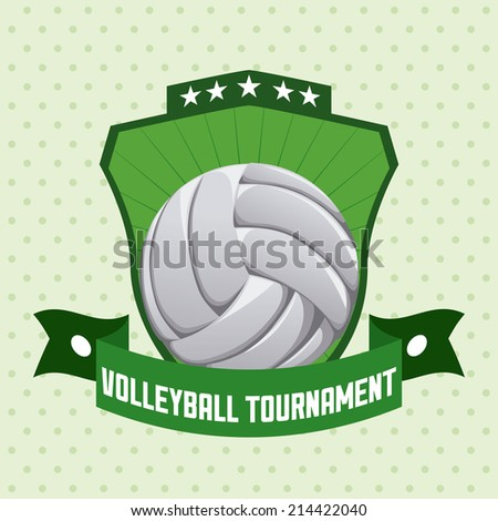 volleyball design over dotted background vector illustration - stock vector