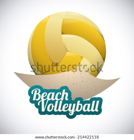 volleyball design over gray background vector illustration - stock vector