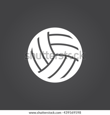 Volleyball Design Over White Background Vector Stock ...