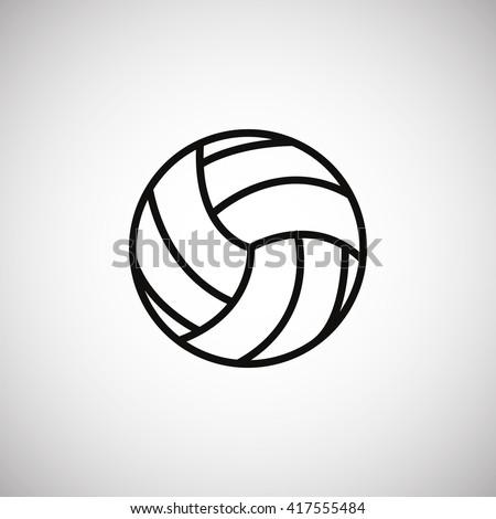 Volleyball icon, Volleyball icon eps 10, Volleyball icon vector, Volleyball icon illustration, Volleyball icon jpg, Volleyball icon picture, Volleyball icon flat, Volleyball icon design. - stock vector