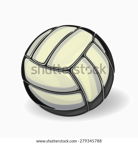 Volleyball isolated on a white background. - stock vector