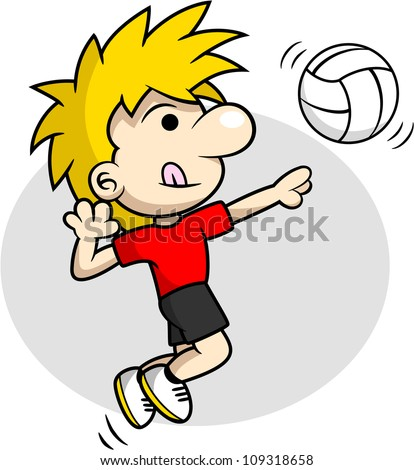 Volleyball Spike - stock vector