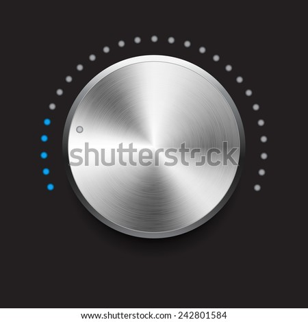 Volume button vector illustration - stock vector