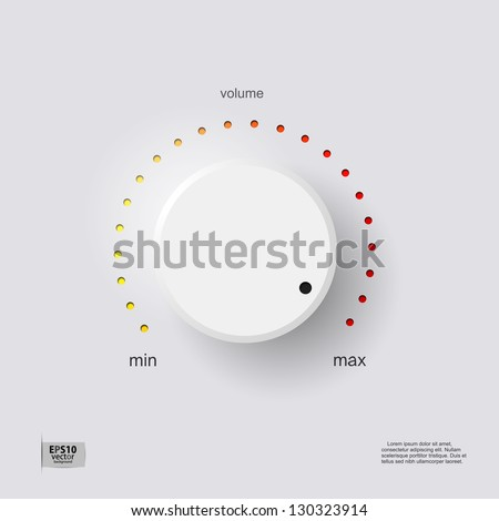 Volume control - stock vector