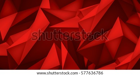 Shape And Form In Design : Volume geometric shape d crystal red stock vector