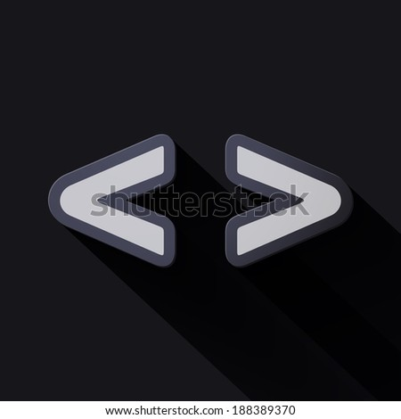 Volume icons symbol: Brackets . Colorful modern Style. - stock vector
