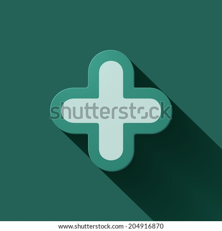 Volume icons symbol: Plus sign . Colorful modern Style. - stock vector