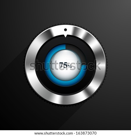 Volume indicator. Vector illustration - stock vector