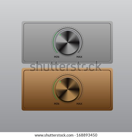 Volume knob with two various color