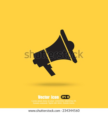 volume vector icon - stock vector