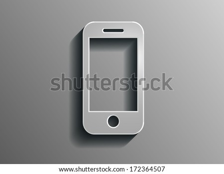 Volumetric and protrusive pictograph of phone