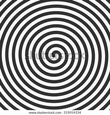 Volute, spiral, concentric lines, circular, rotating background. Vector. - stock vector