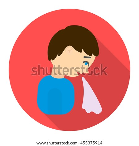 Vomiting icon cartoon. Single sick icon from the big ill, disease collection. - stock vector