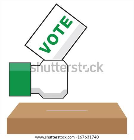 vote - stock vector