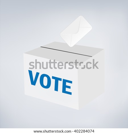 Vote ballot with box.