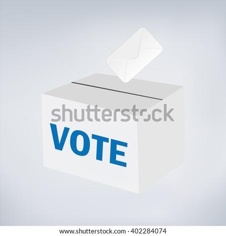 Vote ballot with box. - stock vector