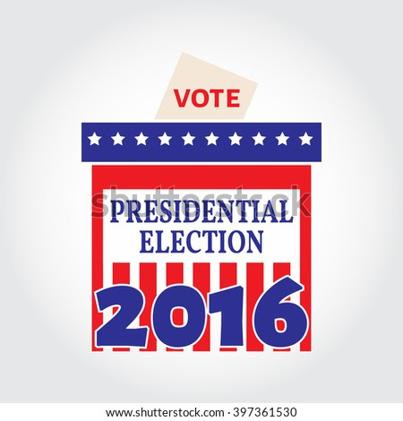Vote box for presidential election. Vector illustration.  - stock vector