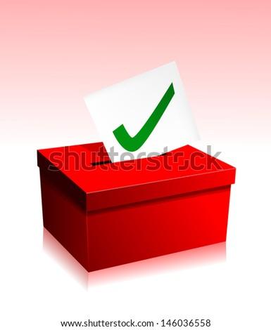Vote boxe - stock vector