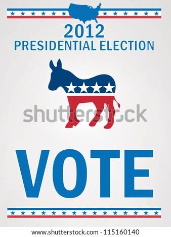 Vote Democrat - stock vector