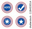 Vote Election Badges - stock photo