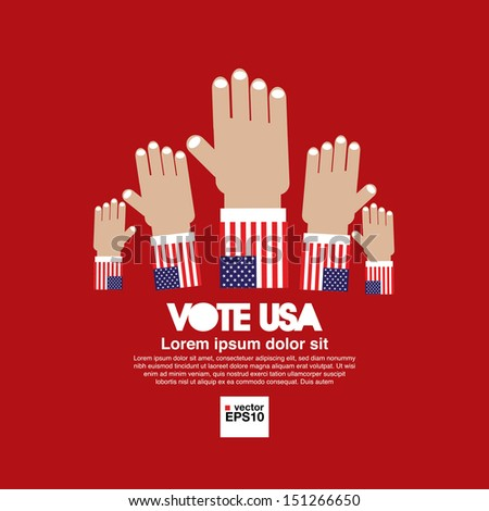 Vote for election vector illustration concept.EPS10 - stock vector