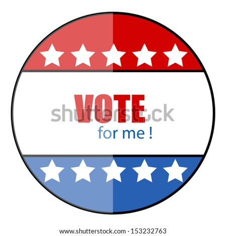 Vote for me - glossy vector badge