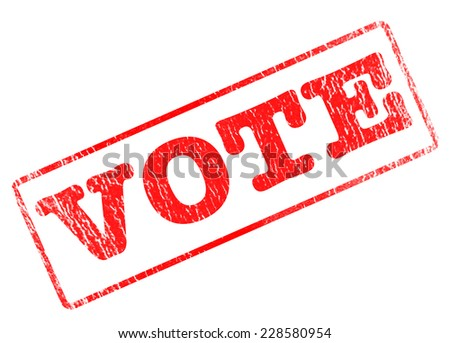 vote grunge stamp with on vector illustration - stock vector