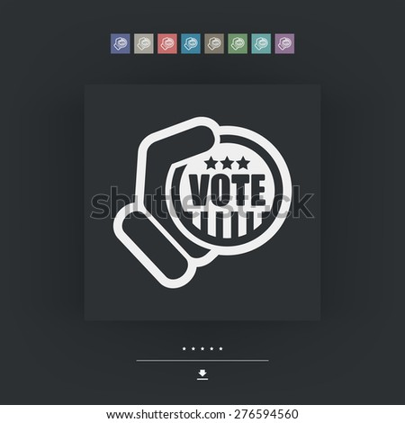 Vote icon - stock vector