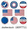 Vote Icon Set. Easy To Edit Vector Image. - stock vector
